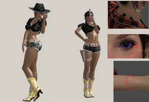 Lara Croft Headbanger (update) by Marcelievsky
