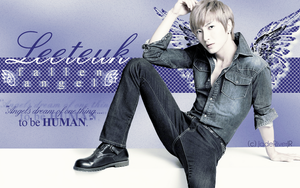 Leeteuk - Fallen Angel Wallpaper {HBD} by JadeRiverJR
