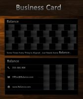Balance free business card by SameehShkeer