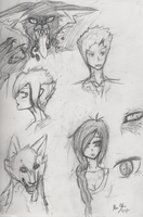 Rough Character Sketches by Okamichu