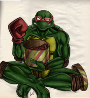 TMNT Raph Merry Christmas! by GlandEnce