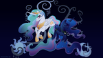 Harmony: Celestia and Luna by SpaceKitty
