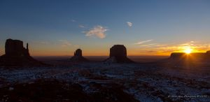 Sunrise in Monument Valley 2 by Mac-Wiz