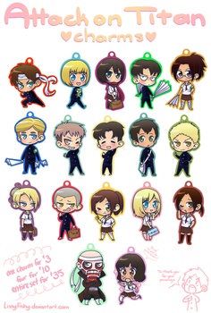 Attack On Titan Charms by LissyFishy