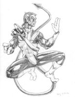 Nightcrawler :: pencil by DiMaio