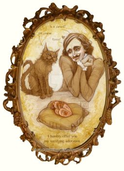 Horror Valentine - Poe and Cat by BohemianWeasel