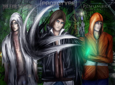 Hoods Crossover- Men of Science, Ruvik,Alex,Philip by SovietMentality