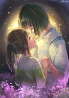 Doodle- Haku n Chihiro by christon-clivef