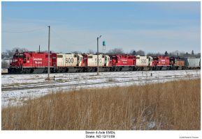 Seven 4-axle EMDs by hunter1828