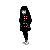 Black and Pink Spectre of Hipster Winter by LOBrien