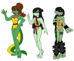 TMNT girls diversities... by Lily-pily