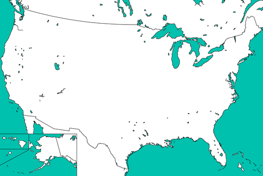Blank Map of the USA by Thumboy21