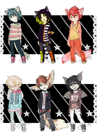 Visual Kei Kemonomimi Adopts (Closed) by Xecax
