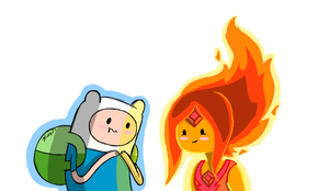 Flame Princess and Finn by Xcoqui