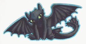 Chibi Toothless Magnet by Anavar