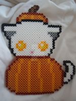 Cute Pumpkin Kitty by PerlerHime