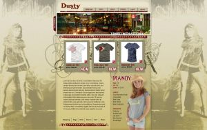 Dusty Brand Website design by jeff051477