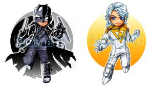 Apollo+Midnighter: Portable v. by vejiicakes