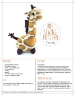 Giraffe Pattern Now Available by BeeZee-Art