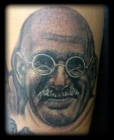 Gandhi by state-of-art-tattoo