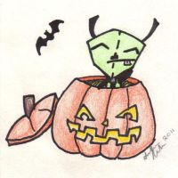 Gir in a Pumpkin by Missy12113