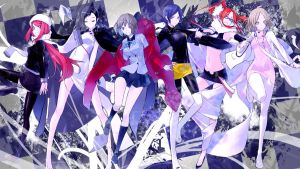 All The Heroines from SMT : Devil Survivor 2 by seventhfinger