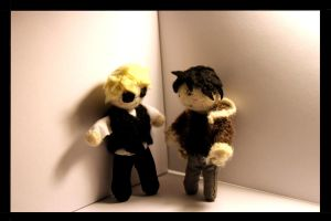Izaya and Shizuo Plushies by salvationtoakuma