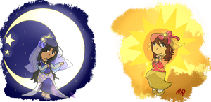 [APH] Sun and Moon by poi-rozen