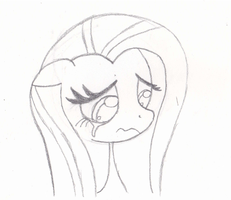 Fluttershy crying by BlackNapalmPony