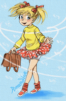 Girl with pigtails by retrogrlfan