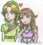 The Hero and the Princess by cleris4ever