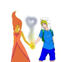 Flame Princess and Finn by dnldavid