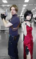 Ada and Leon Resident Evil 4 cosplays by MasterCyclonis1