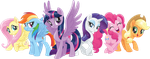 Mane Six 2017 (MLP movie) by Movies-of-yalli