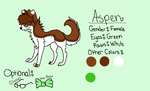 Character Sheet OC: Aspen by XsilverdawnwarriorX