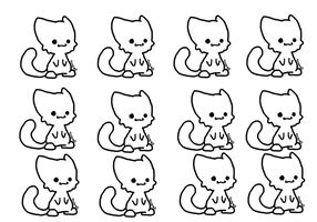Chibi Cat Lineart [MS-Paint Friendly Version] by CocoaAdopts