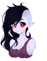 Marceline Headshot by punipaws