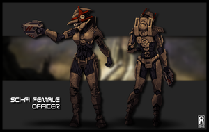 CONCEPT - Sci-Fi Female Officer by RevoRobotica-Liam
