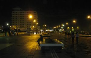 Street at night by Seigner