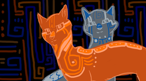 Bluestar and Firestar- War Paint by Saejay