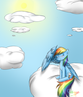Rainbow Dash Chillin by Pinkie321Pie