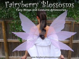 Lavender Lilacs Fairy Wings by FairyberryBlossoms