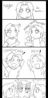 Cara and Ash randomnesssss... by Blazesnbreezes