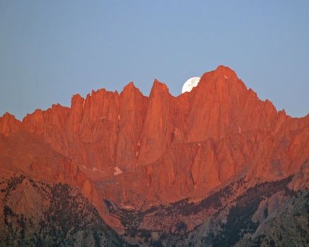 Mt. Whitney Moonset by dirtbear