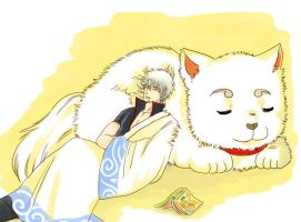 Gintoki and Sadaharu by mmmmmr