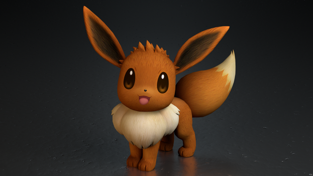 #133. Eevee by TheAdorableOshawott