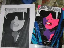 """Lady Gaga """"The Fame"""" canvus by Brutechieftan"""
