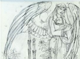 Winter Angel-WIP by AngelaSasser