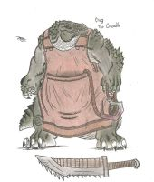 Crug the Crocodile by MonsterKingOfKarmen