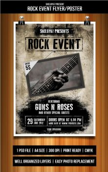 Rock Event Flyer by Eleanor67